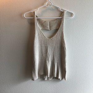 Heart Shaped Open Back Knit Tank Top